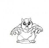 Le hibou - un flipbook à télécharger gratuitement sur www.michaelspornanimation.com