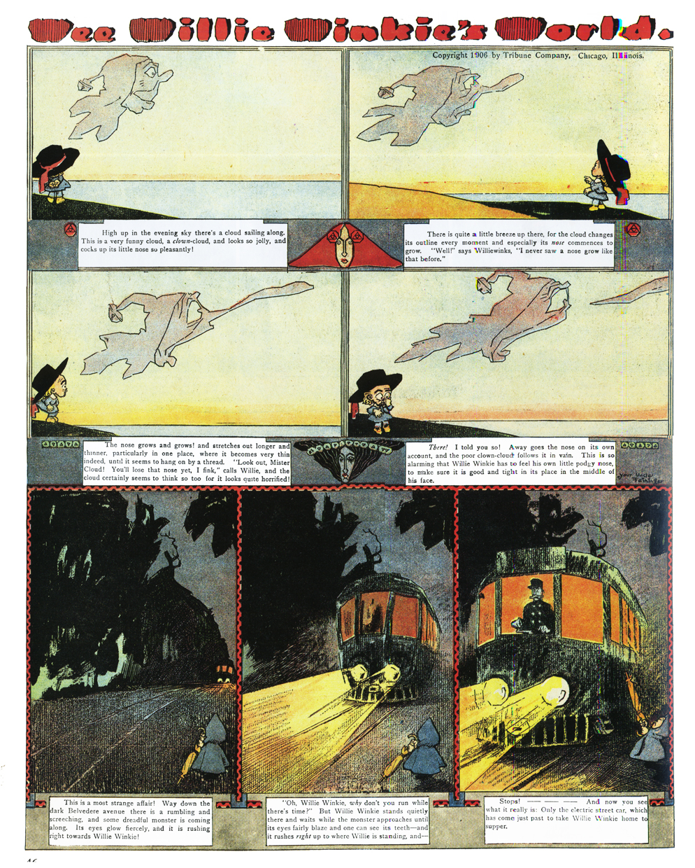 Art comic feininger lyonel strip